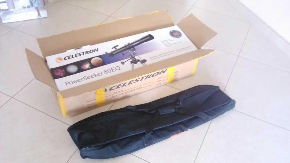我的天文望远镜到货了,组装了一下午,高...