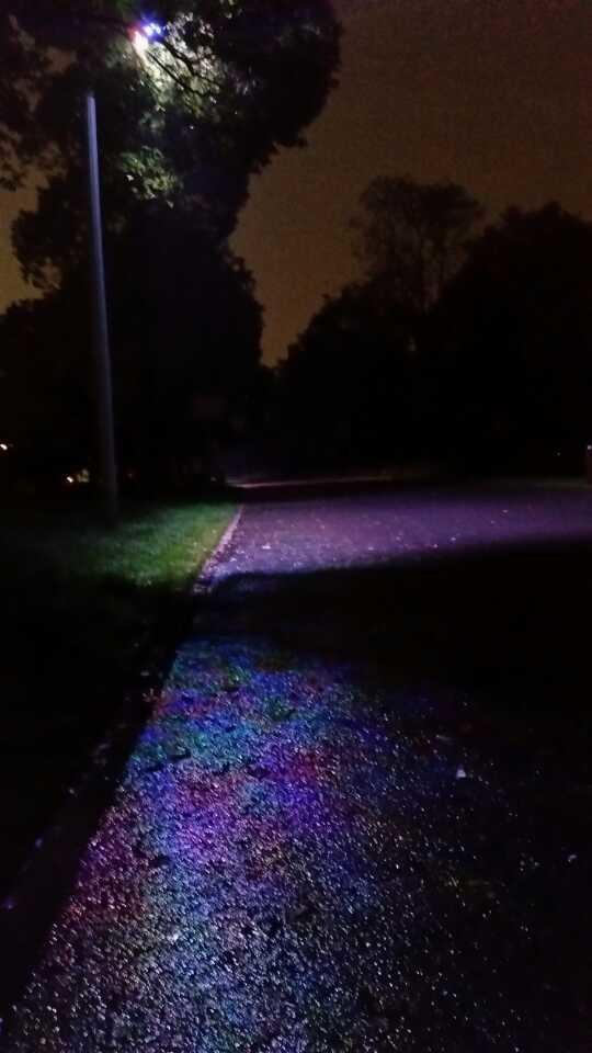 灯光下的马路,是彩色的,基于你还爱我…...