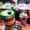 回旋寿司很不错!芥末给力!三文鱼刺身超赞!
