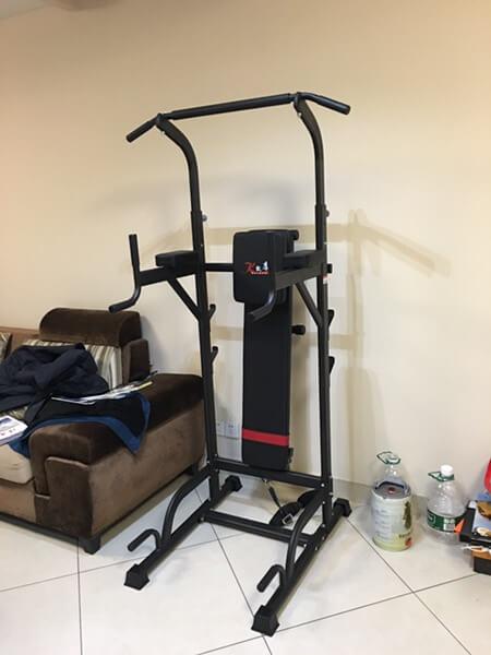 健身器械组装完成!