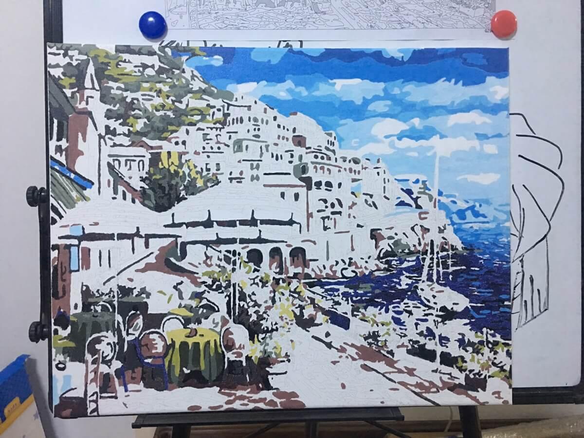 第一幅油画完成了!