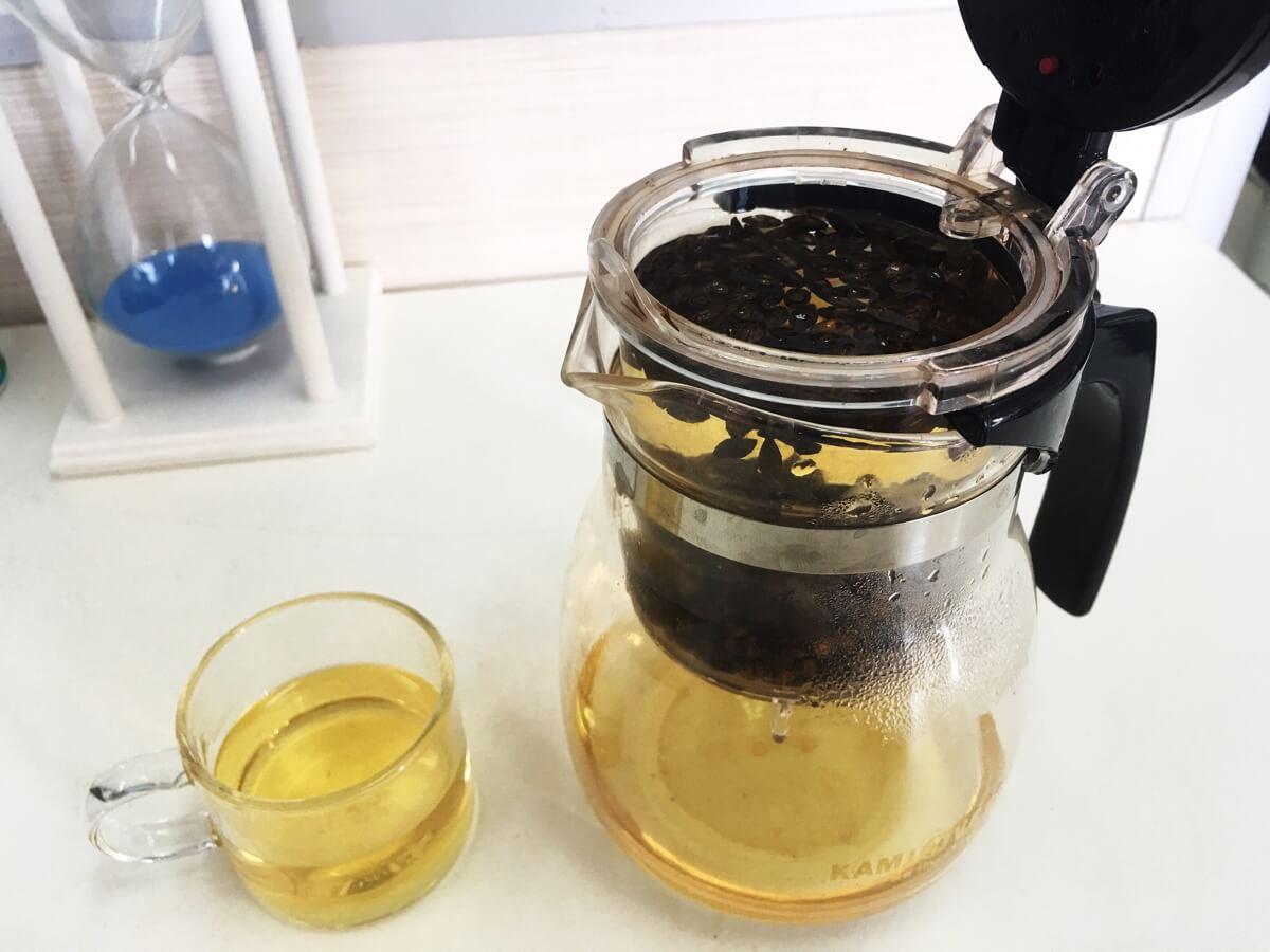 今天喝大麦茶……