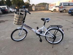 成功组装一辆折叠自行车