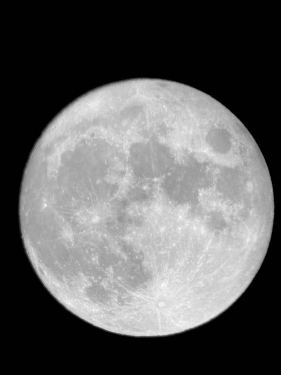 夜观星象,月亮、土星、木星。